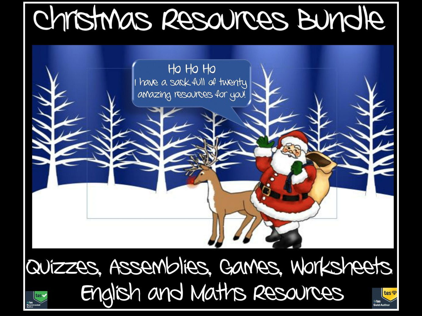 Christmas: Resources Bundle - Twenty Resources - Just £9.99 - Quizzes, Games, Assemblies, Maths and English Resources
