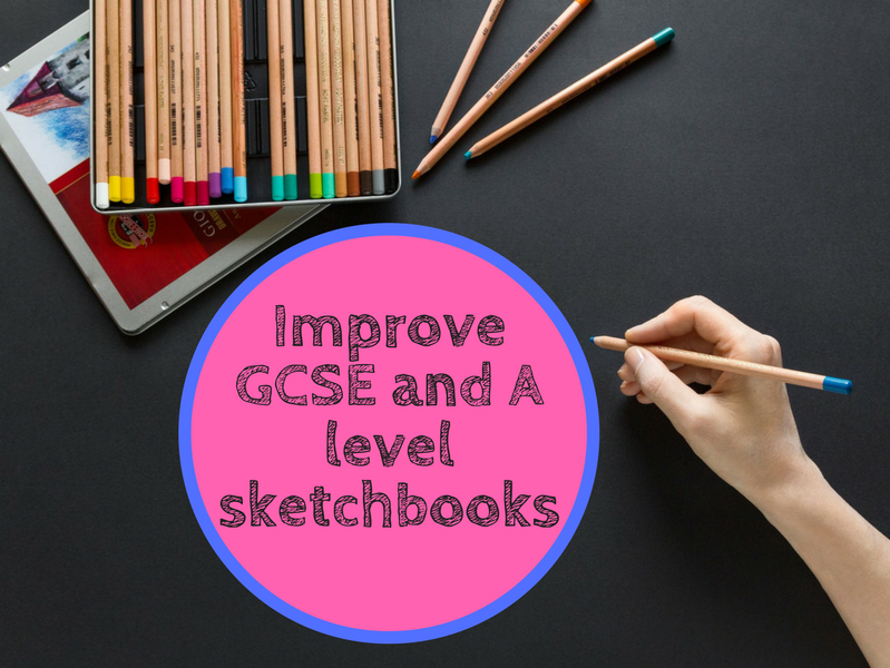 improve gcse and a level art sketchbooks by amimamim