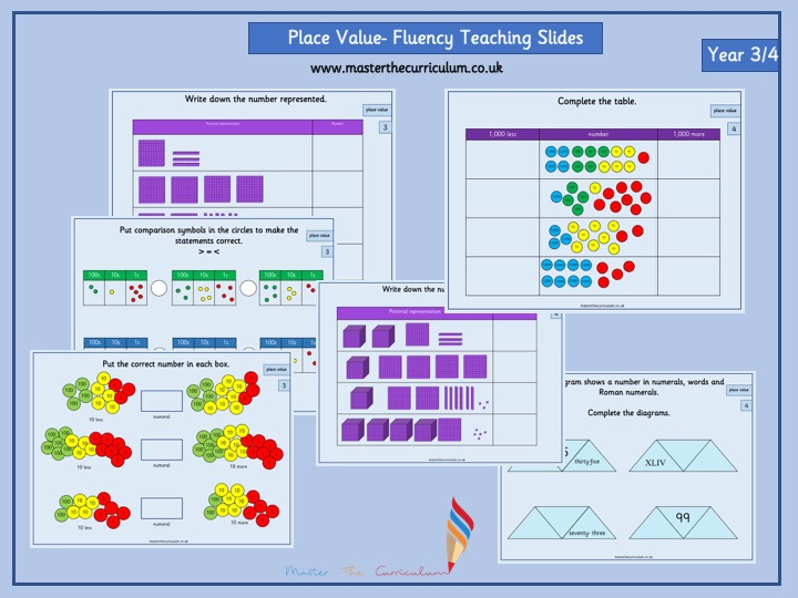 Mixed age group- Year 3/4 Autumn Term- Block 1- Place Value Teaching Slides