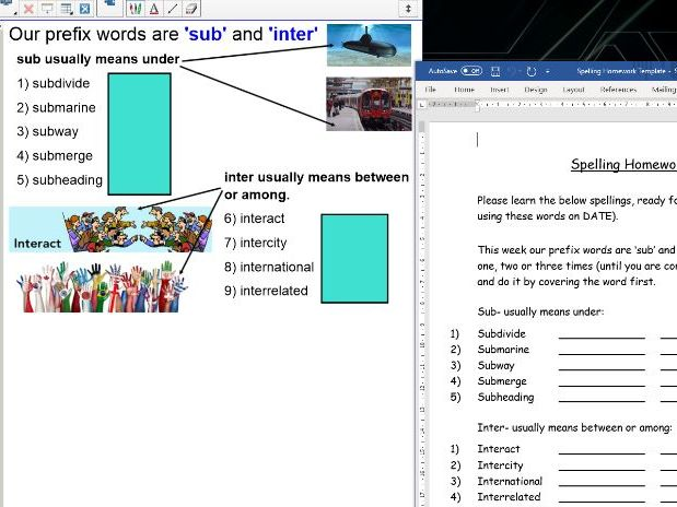 Year 4 Whole Year of Spelling Lists and Rules for New Curriculum Spelling Homework Template