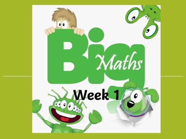 Big Maths CLIC Powerpoint - Year 2 Spring 1