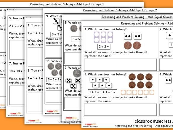 Year 2 Add Equal Groups WRM Multiplication and Division Reasoning and Problem Solving