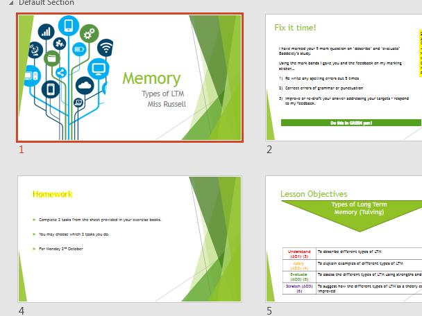 GCSE AQA (9-1) Memory Lessons