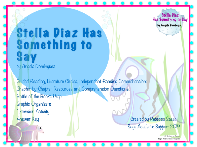 Stella Diaz Has Something to Say Novel Guide