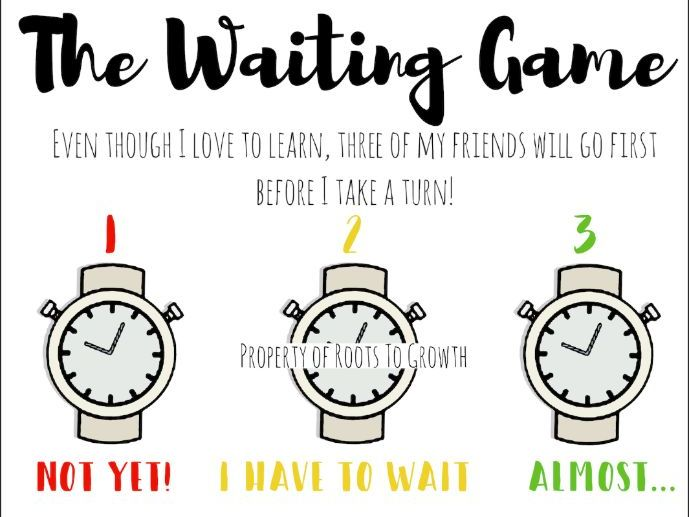 The Waiting Game (Self-Control/Turn-Taking Visual)