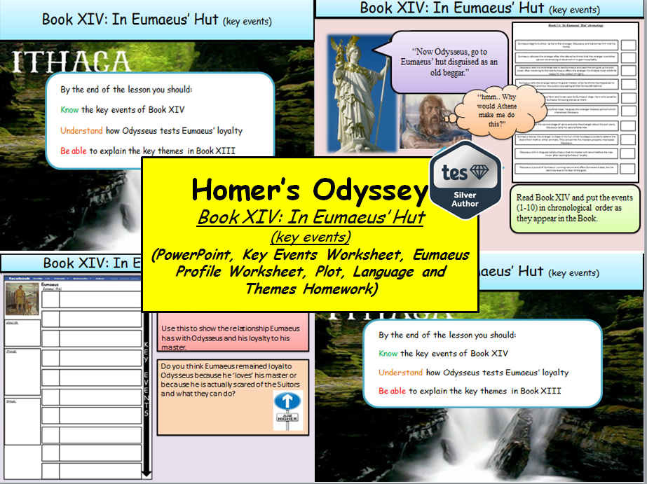 Homer's Odyssey – Book XIV: In Eumaeus' Hut (key events)