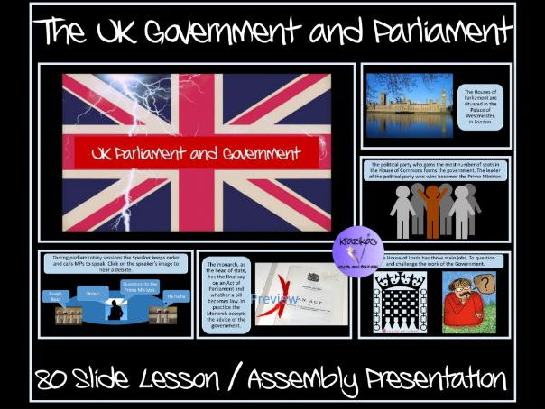 The UK Parliament and Government - 80-Slide Lesson / Assembly Presentation