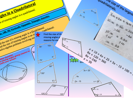 Angles in a Quadrilateral Lesson