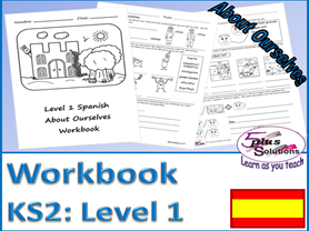 Primary KS2 Spanish COPIABLE WORKBOOK: About Ourselves (Level 1)