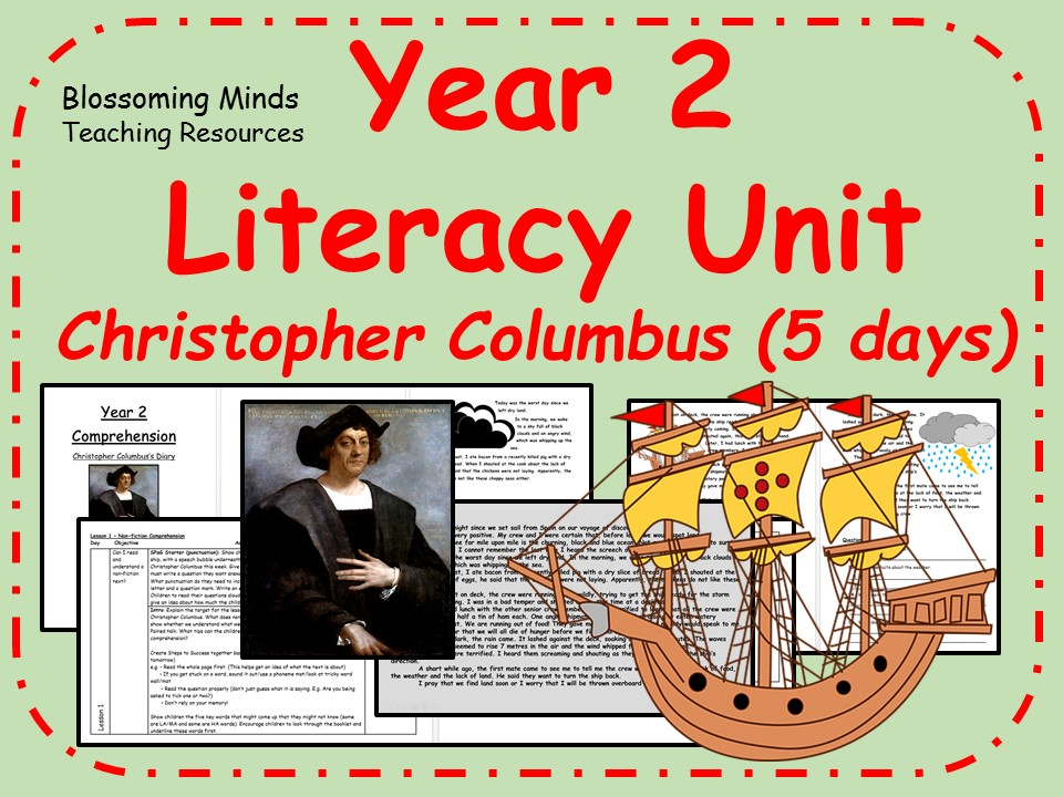 Year 2 Literacy Unit - Christopher Columbus (explorer)