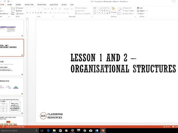 Business Organisational Structures