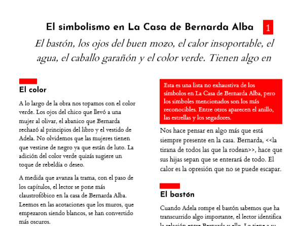 La Casa de Bernarda Alba: El simbolismo