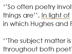 Hughes and Plath -A Level  Exam Questions