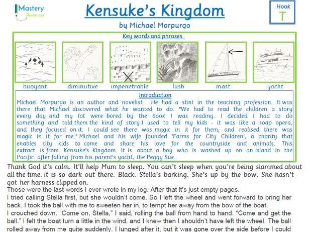 Kensuke's Kingdom by Michael Morpurgo Comprehension KS2