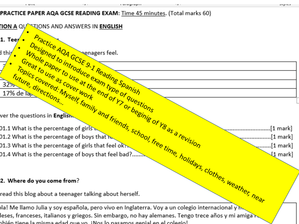 AQA Practice papers for KS3 or KS4 Foundation