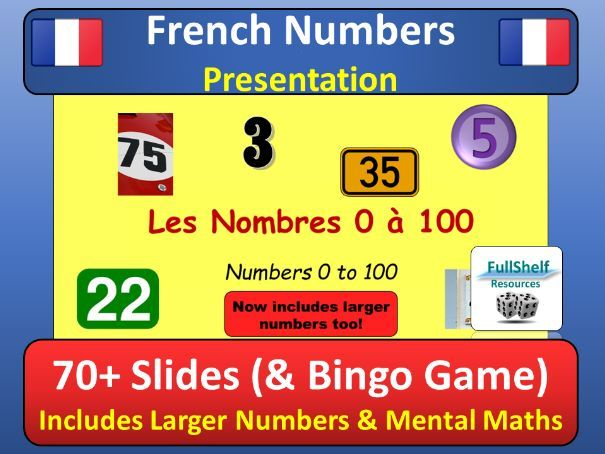 French Numbers (Les Nombres) Presentation