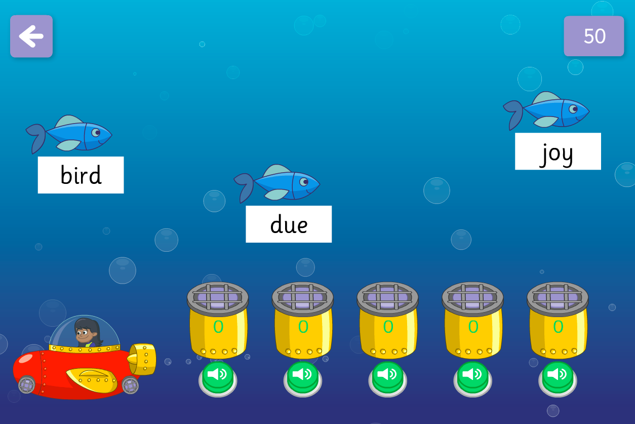 Catch the Fish Game - New Graphemes - Phase 5