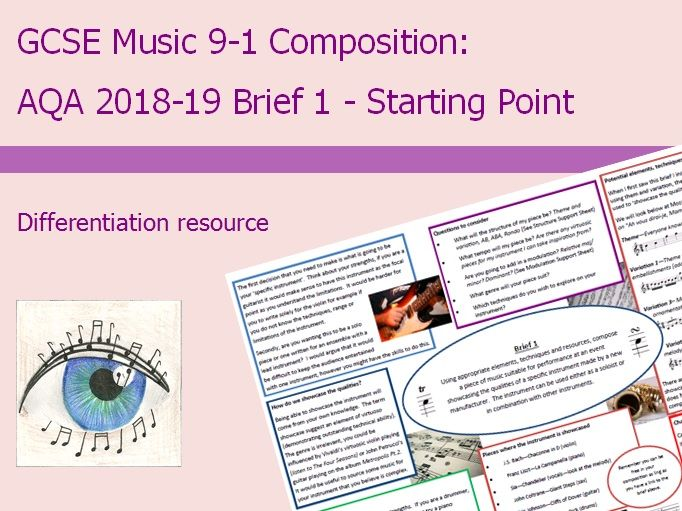Music GCSE 9-1 Composition: 2018-2019 Brief 1 Starting Point