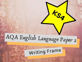AQA GCSE English Language Paper 2 Writing Frame