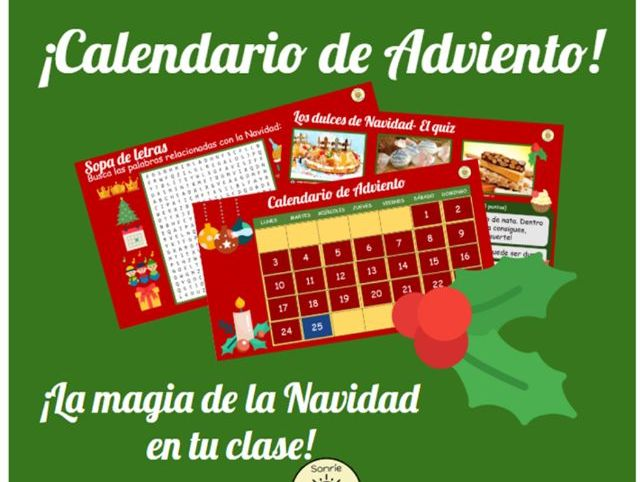 CALENDARIO DE ADVIENTO, ADVENT CALENDAR, NAVIDAD, CHRISTMAS, FELIZ NAVIDAD, SUITABLE FOR ALL LEVELS