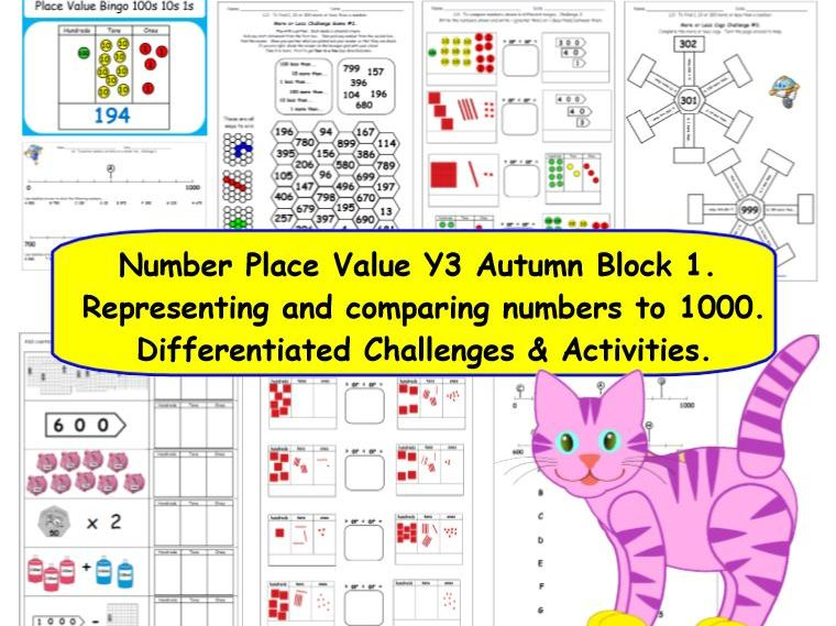Number Place Value Y3 Autumn Block 1 KS2 Resources Supporting White Rose Small Steps