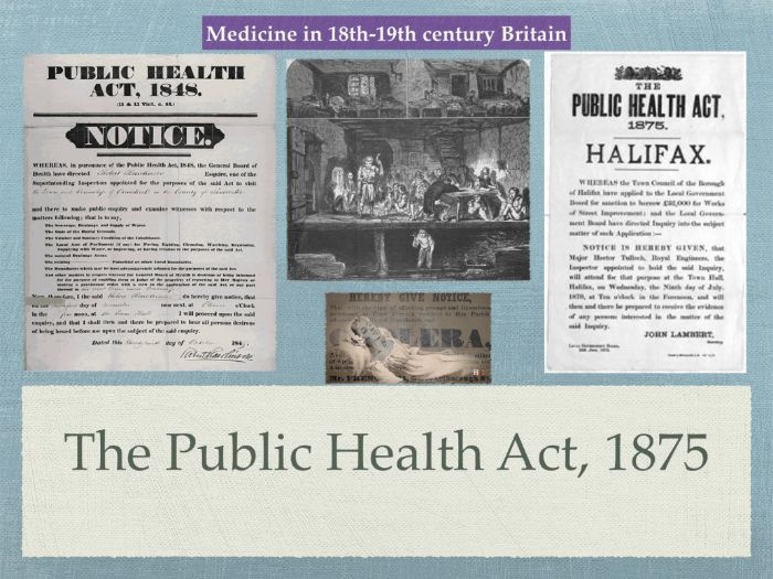 GCSE History of Medicine. 18th 19th Century. The Public Health Act 1875
