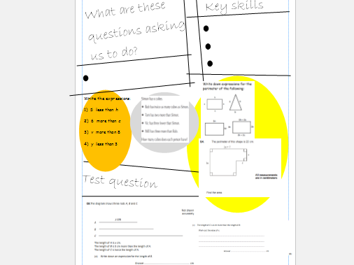 Algebra Topic Sheets
