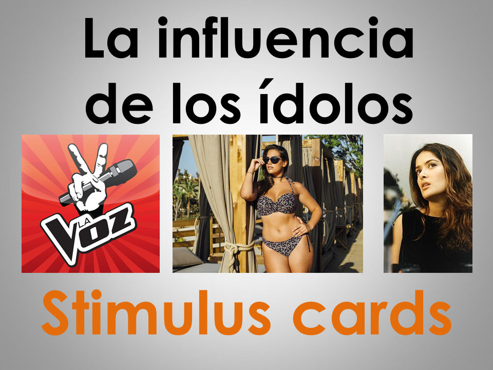 New AS/A Level Spanish: Stimulus cards on La influencia de los ídolos