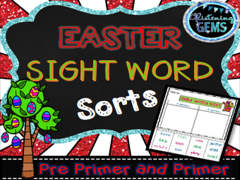 Easter Sight Word Sorting - No Prep Printables