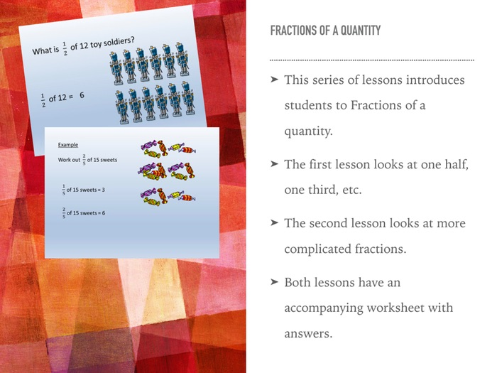 Fractions of a quantity