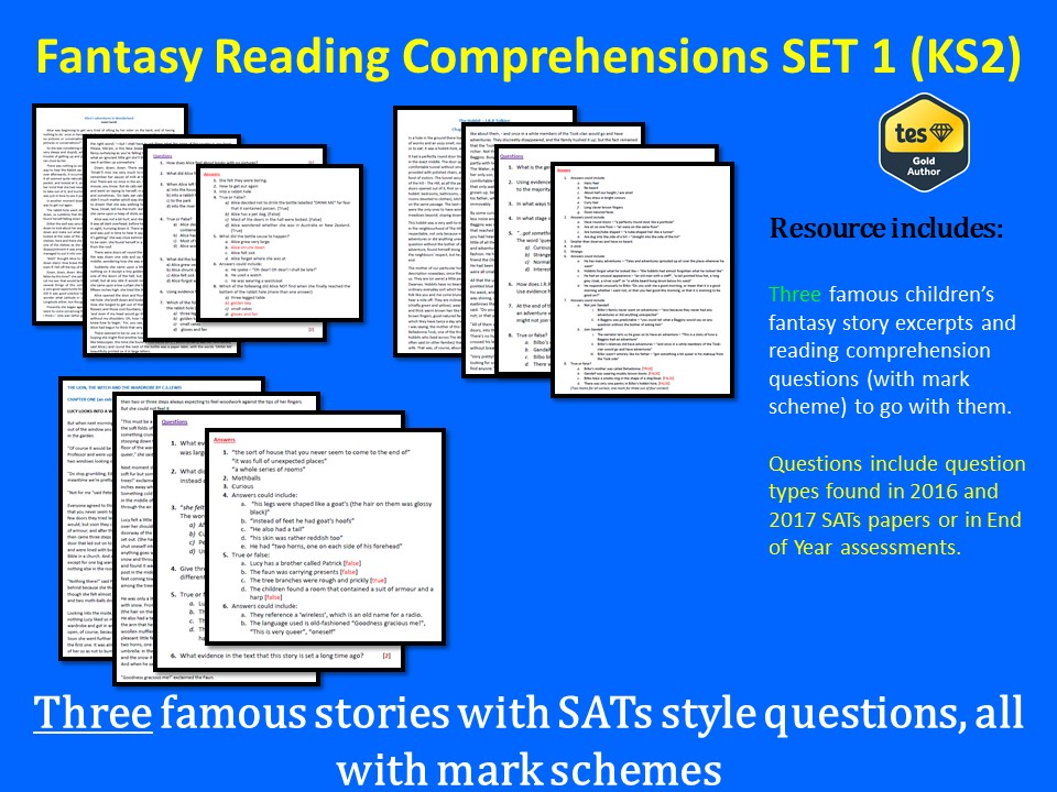 Reading Comprehensions SET 1 (KS2) - With Mark Scheme