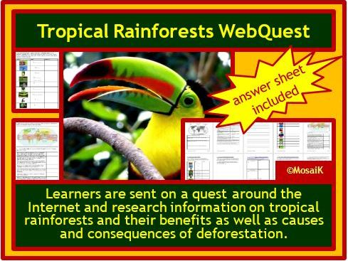 Tropical Rainforest WebQuest