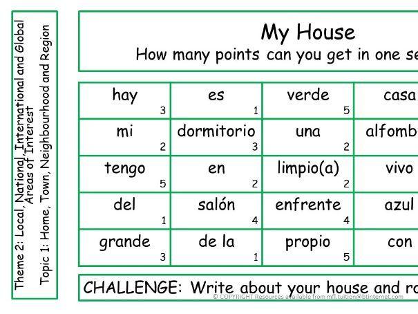 GCSE Spanish Theme 2 Sentence Challenges