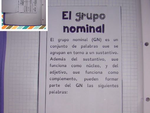 INTERACTIVE NOTEBOOK. EL GRUPO NOMINAL / The nominal group in Spanish