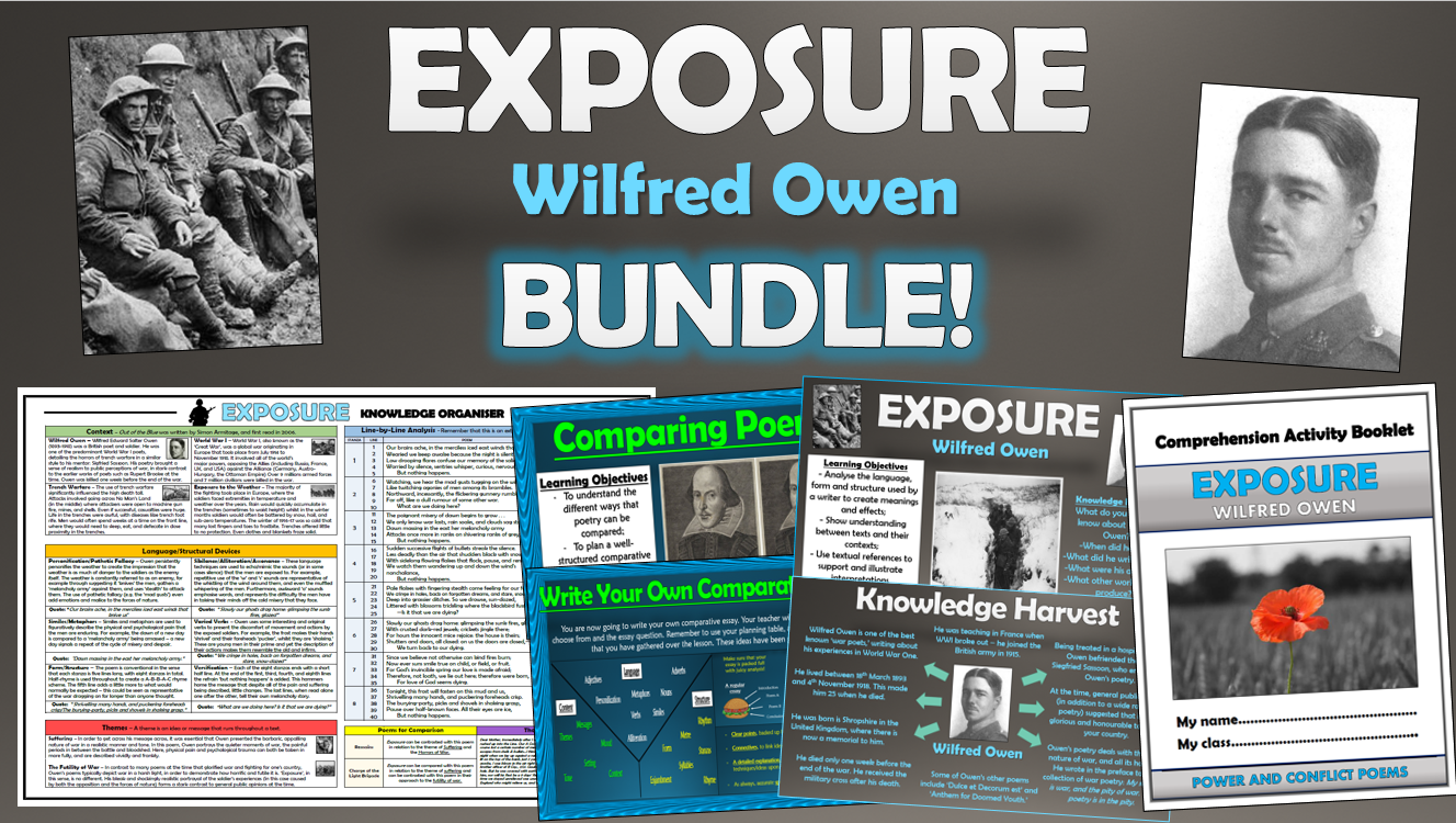 Exposure - Wilfred Owen - Bundle!