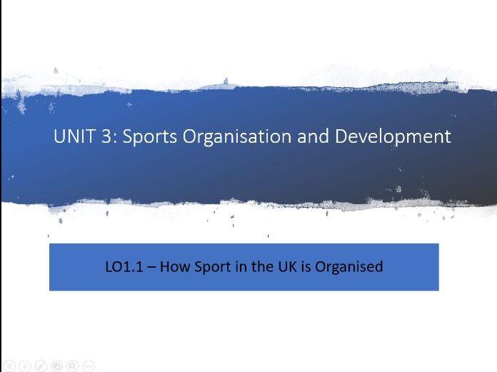 Unit 3 - Sports Organisations LO1.1