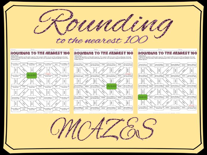Rounding to the nearest 100 mazes