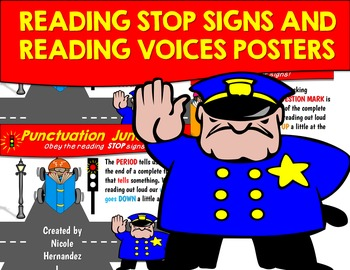 Punctuation Posters - {Reading Stop Signs and Voice Visual Display}