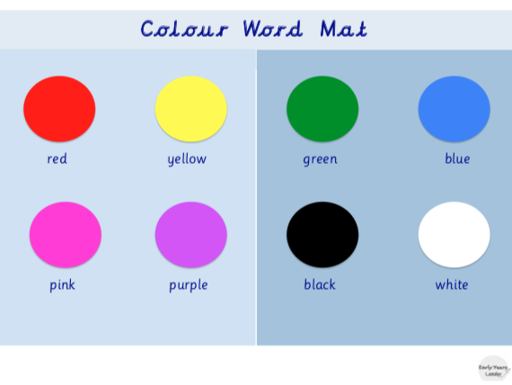 Colour Word Mat