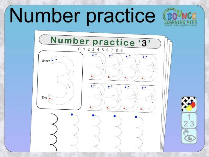 Number writing practice 0-9 distance learning worksheets