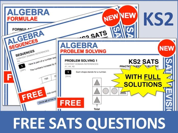 SATs Bundle (Algebra)
