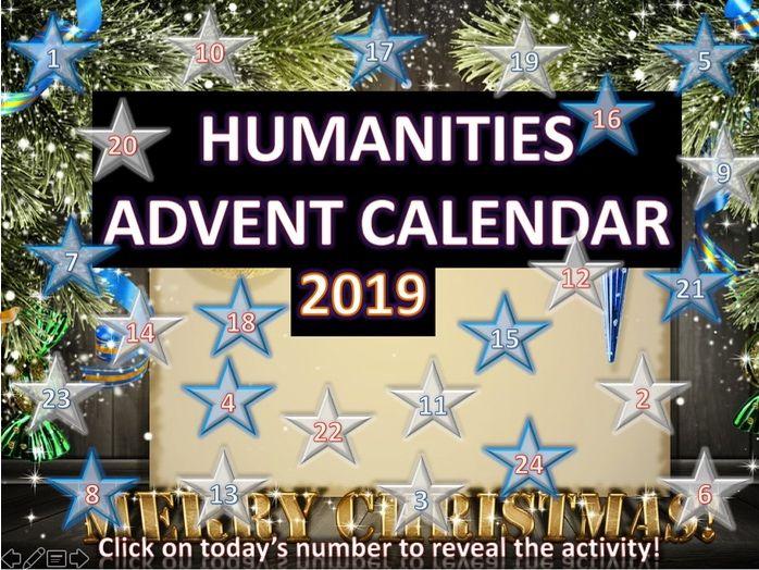 Humanities Christmas Quiz Advent Calendar