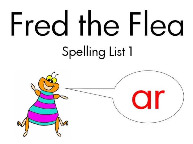 Fred the Flea - animated spelling lists (1-syllable words with common spelling patterns)
