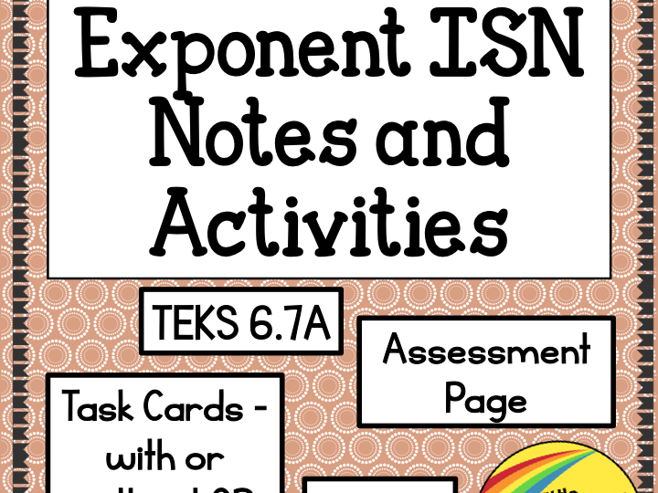 Exponents ISN Notes and Activities