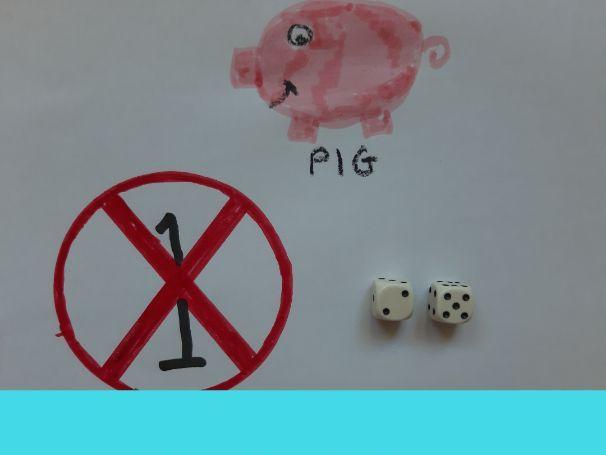 Maths dice game / maths number game - Pig