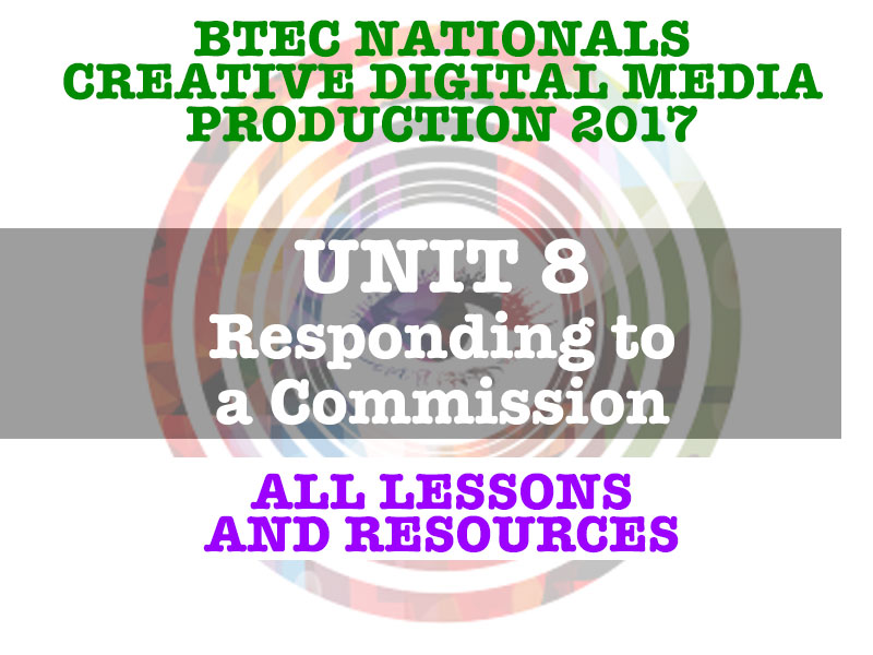 BTEC Nationals Creative Digital Media Production 2017 UNIT 8 - Responding to a Commission
