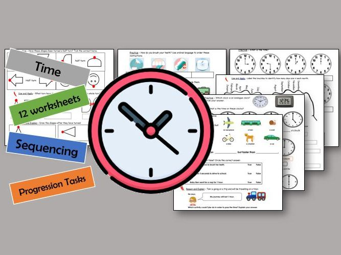 Y1 Maths - Time *12 worksheets*