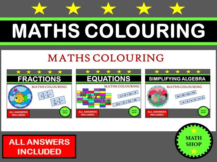 Maths Colouring Bundle