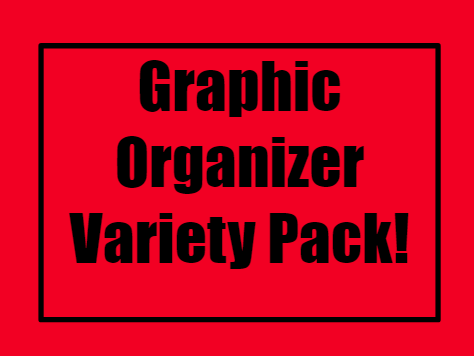 FREE Graphic Organizer Variety Pack with 7 Editable Templates!!