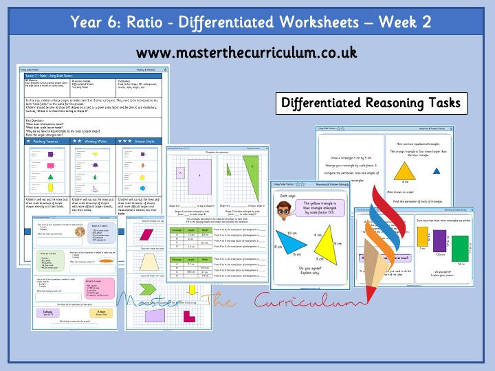 Year 6- Ratio Differentiated Worksheets - Week 2 White Rose Style